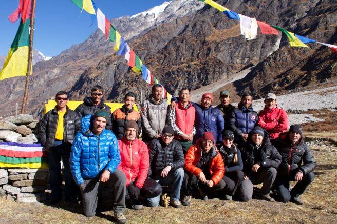In good company with the Altitude Junkies' Ganesh I Expedition team
