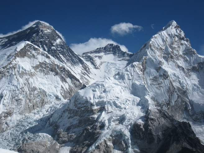 Everest, Lhotse and Nuptse from Camp 1