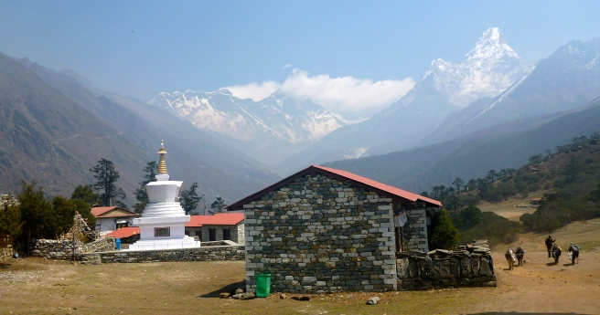 Everest and Ama Dablam from Tengboche
