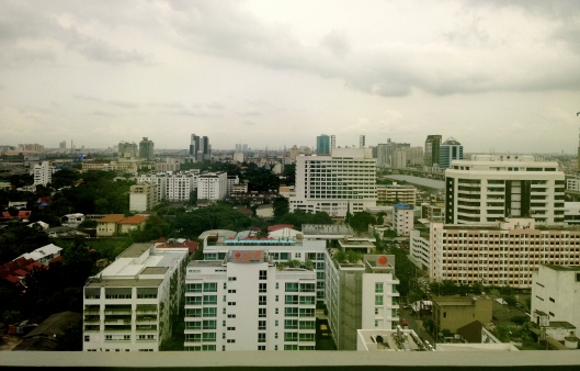 the view from my room at the Bangkok Hospital