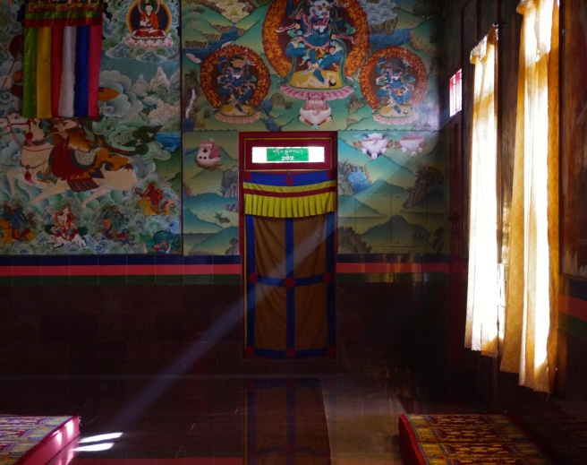 The main gompa at the Sera Mey Monastery, Bylakuppe