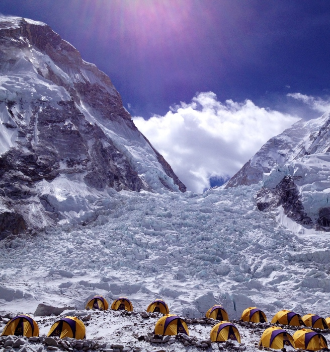 View of the Khumbu Icefall from EBC last year