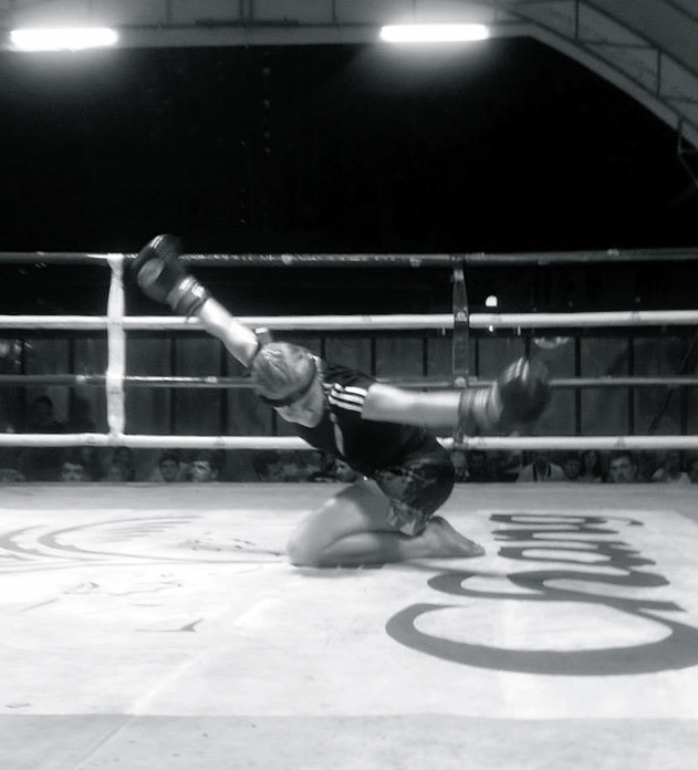 Performing the Wai Khru Ram Muay before the fight